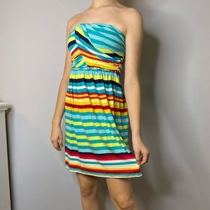 Tart XS Strapless Dress Striped